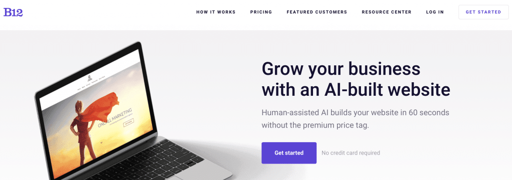 b12 ai website builder
