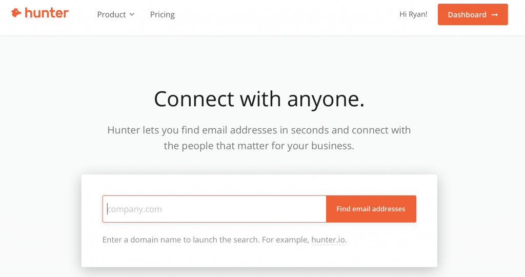 hunter.io best email scraping tool
