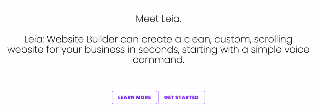 leia AI website builder