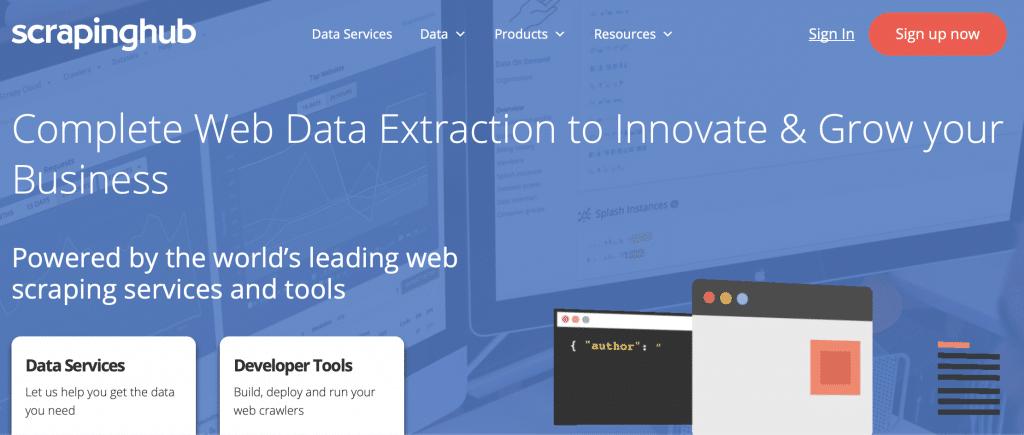 scrapinghub web scraper tool