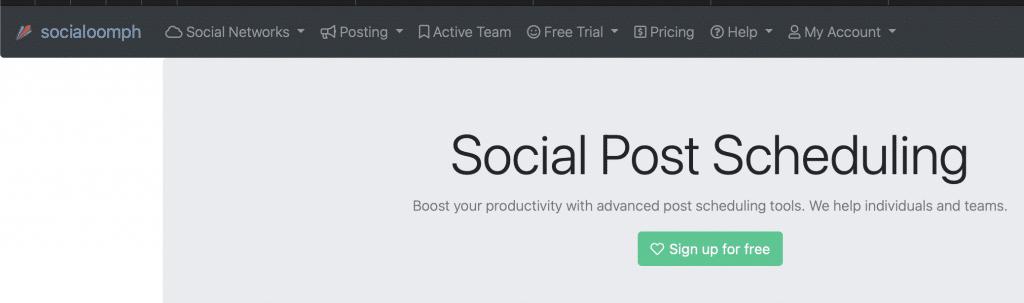socialoomph social media tool