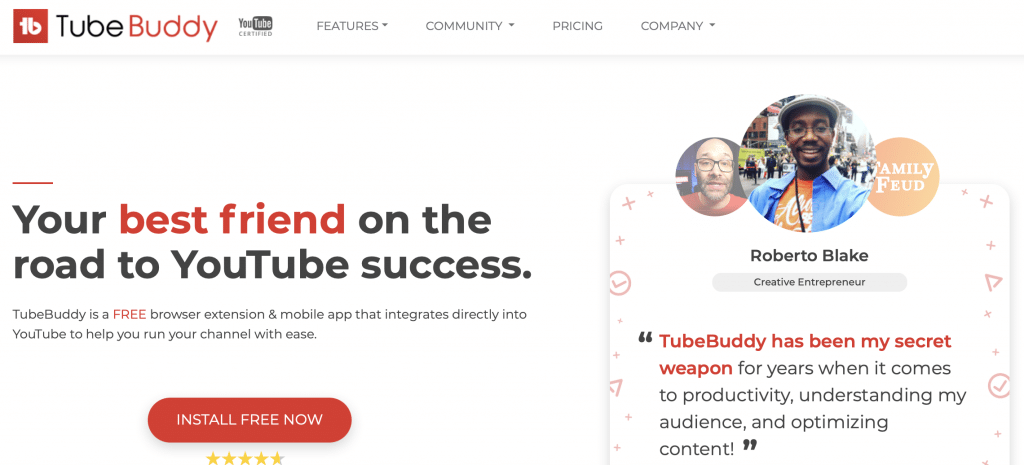 tubebuddy youtube social media tool