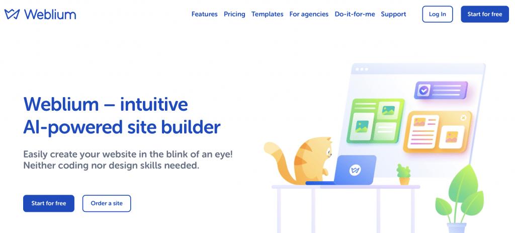 weblium ai website builder