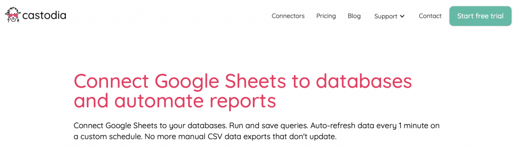 castodia google sheets tool