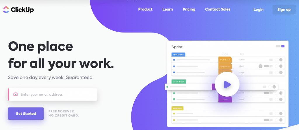 clickup team software for management