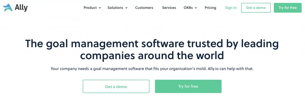 Ally goal management software