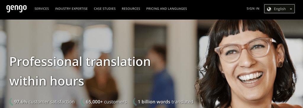 gengo ai translation tool