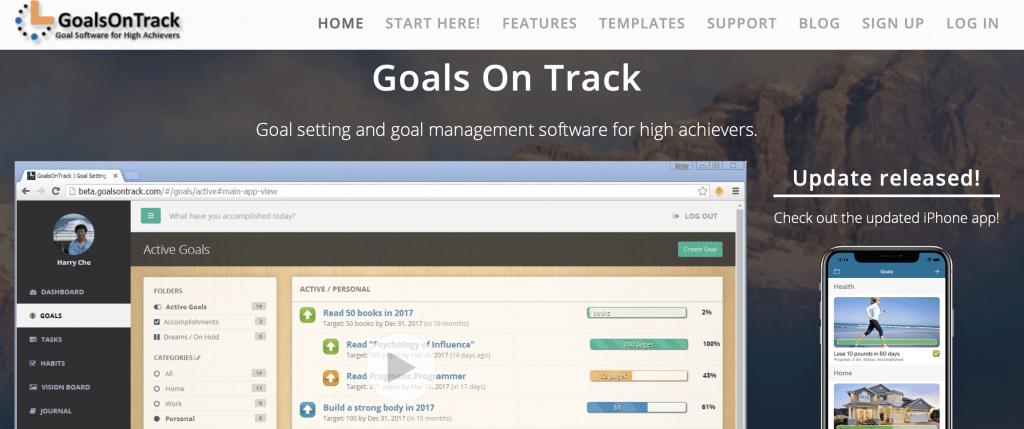 goalsontrack best goal tracker