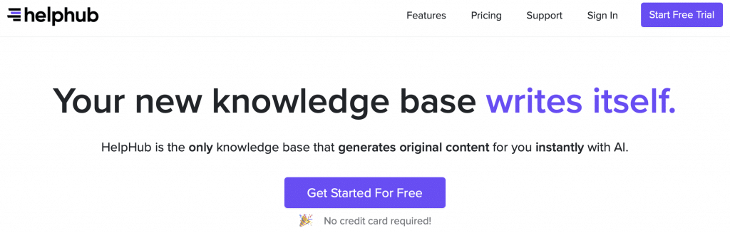 helphub gpt-3 knowledge base software