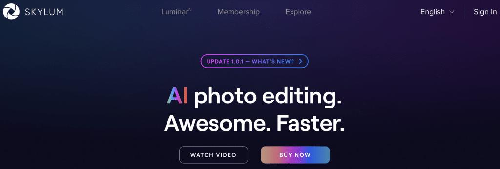 luminar ai photo editor