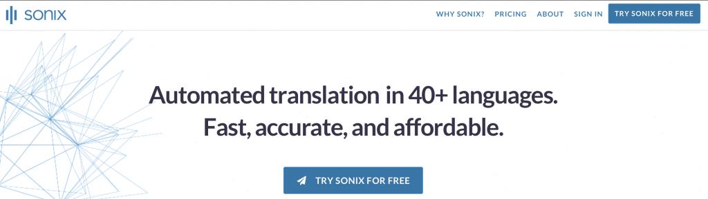 sonix ai translation tool