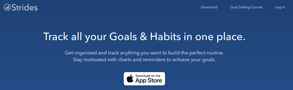 strides goals and habits tool