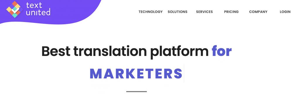 text united best translation platform