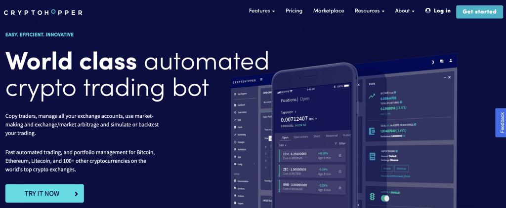 cryptohopperr automated crypto trading bot