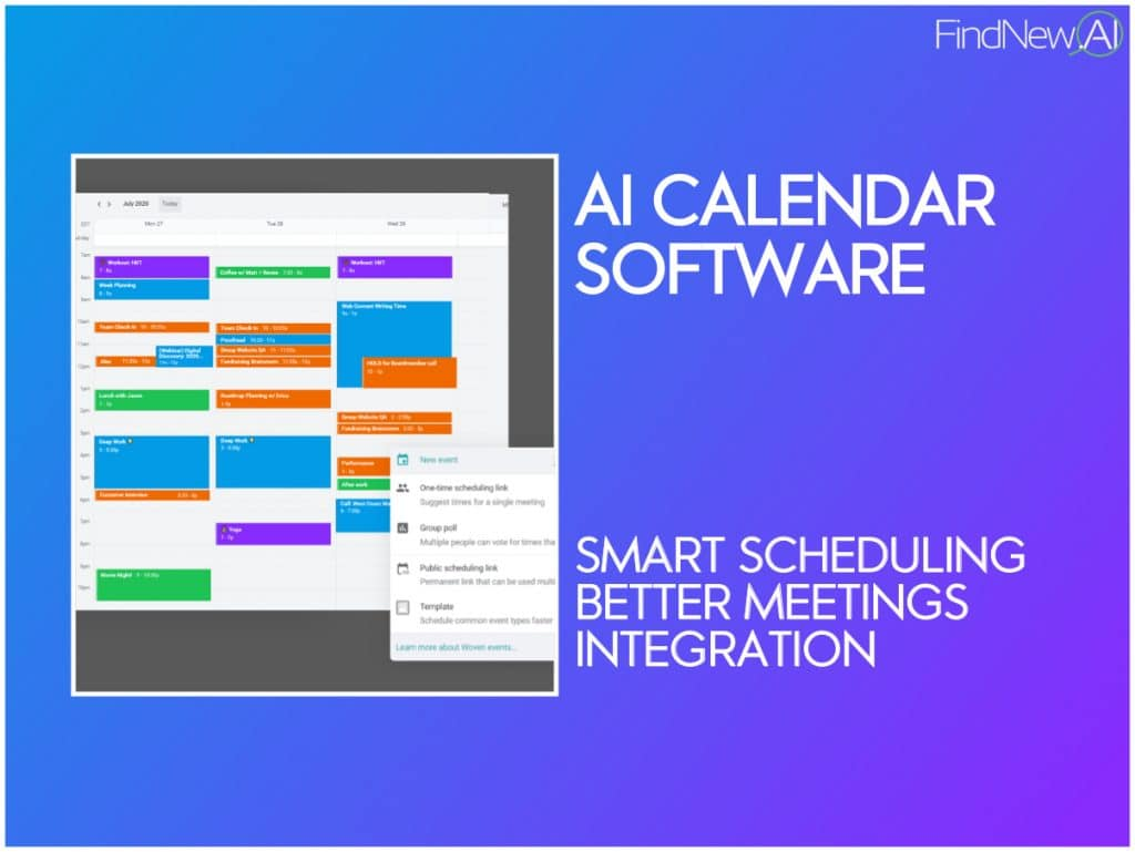 best ai calendar software tools smart scheduling