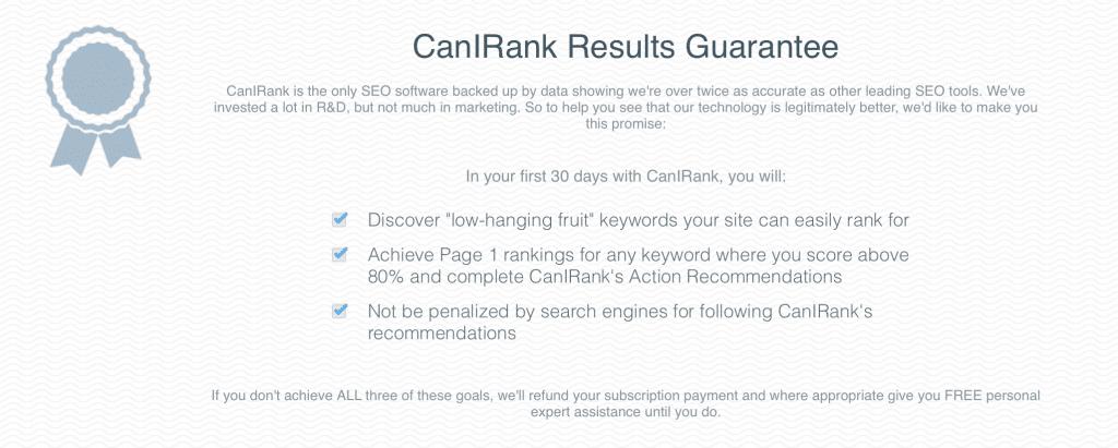 canirank review results guarantee