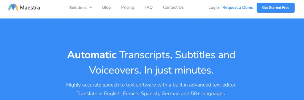 maastra ai transcription software