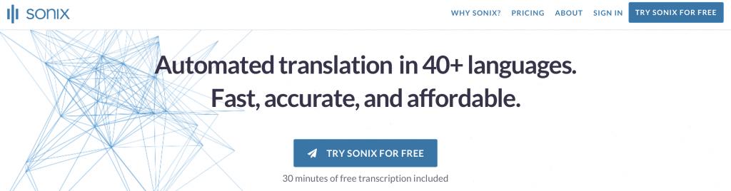 sonix ai transcription software