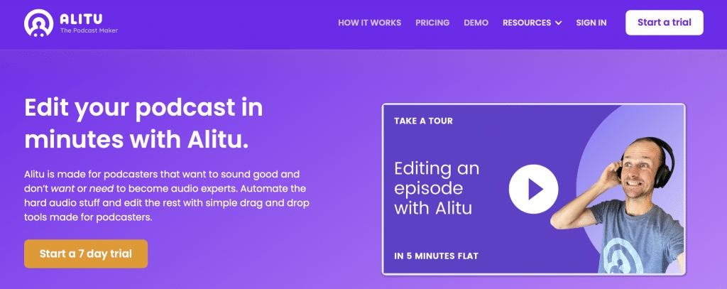 alitu ai podcast sooftware tools