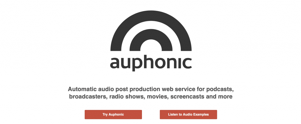 auphonic ai podcast sooftware tools