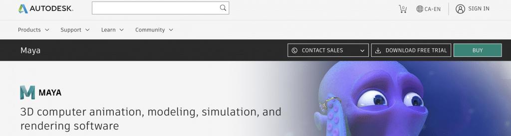 autodesk maya best ai animation software