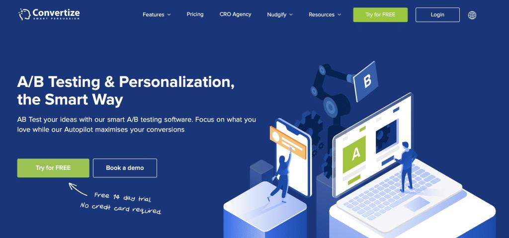 convertize ai a/b testing software