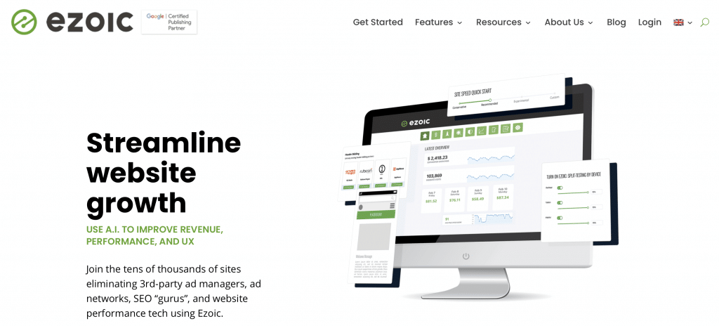 ezoic best a/b testing software tool