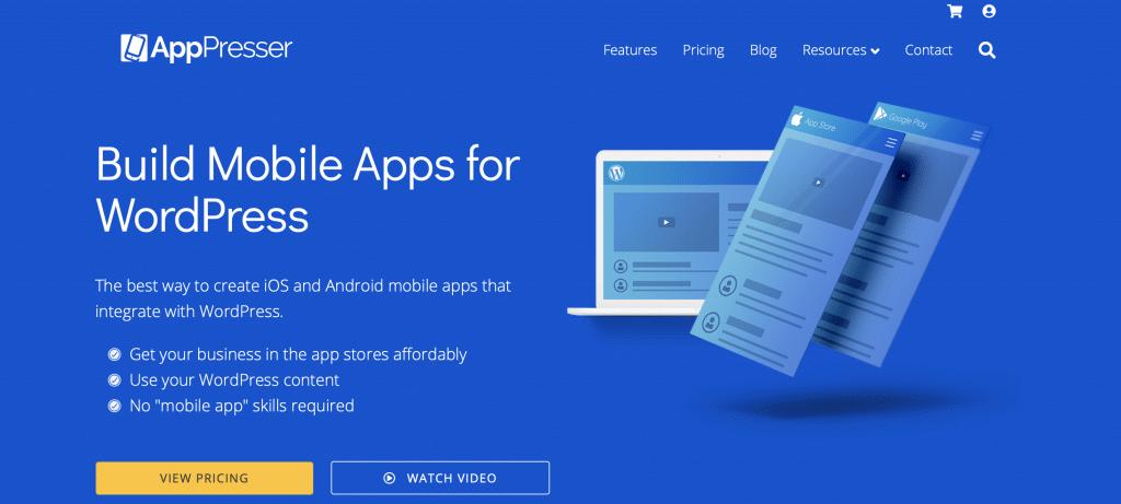 apppresser website into an app