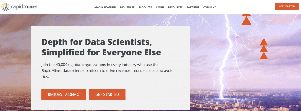 rapidminer ai analytics software