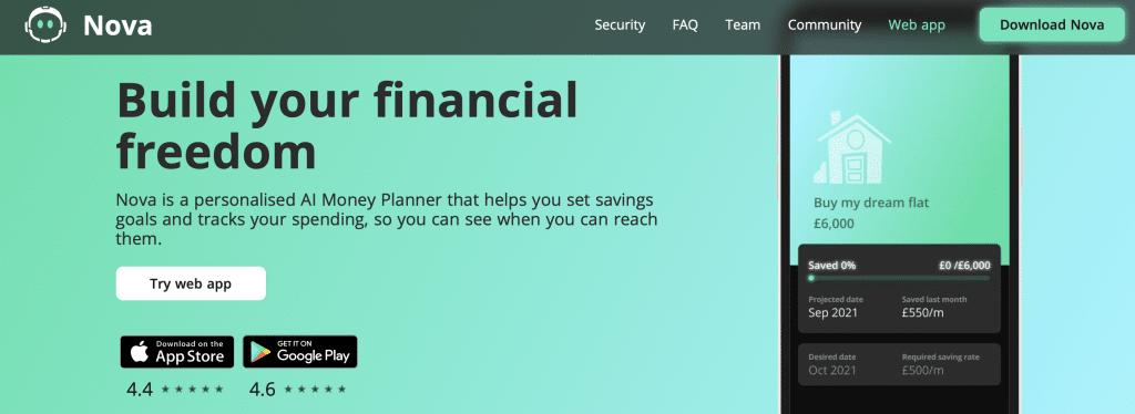nova ai money tool