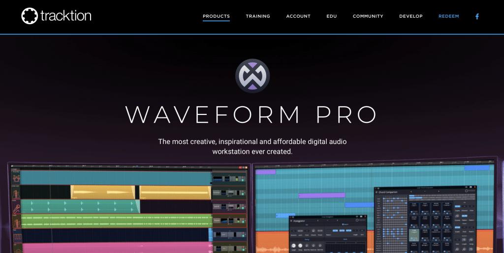 tracktion waveform pro best daw