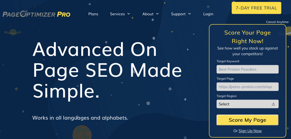 page optimizer pro on page seo tool