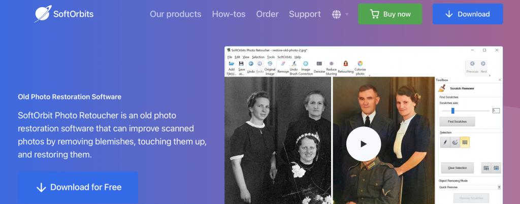 softorbits photo restoration sofware