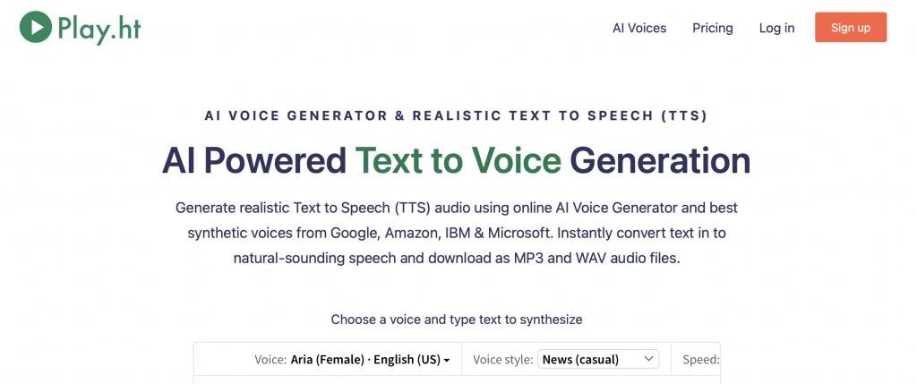 play hi ai voice generator