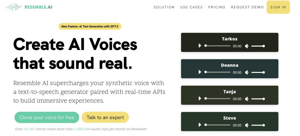 resemble ai voice generator